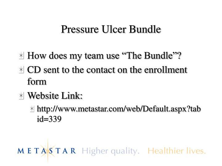 Pressure Ulcer Bundle