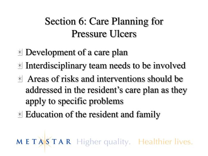Section 6: Care Planning for