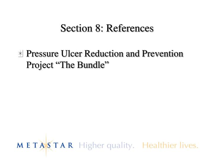 Section 8: References