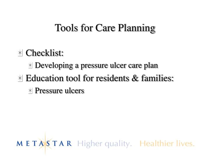 Tools for Care Planning