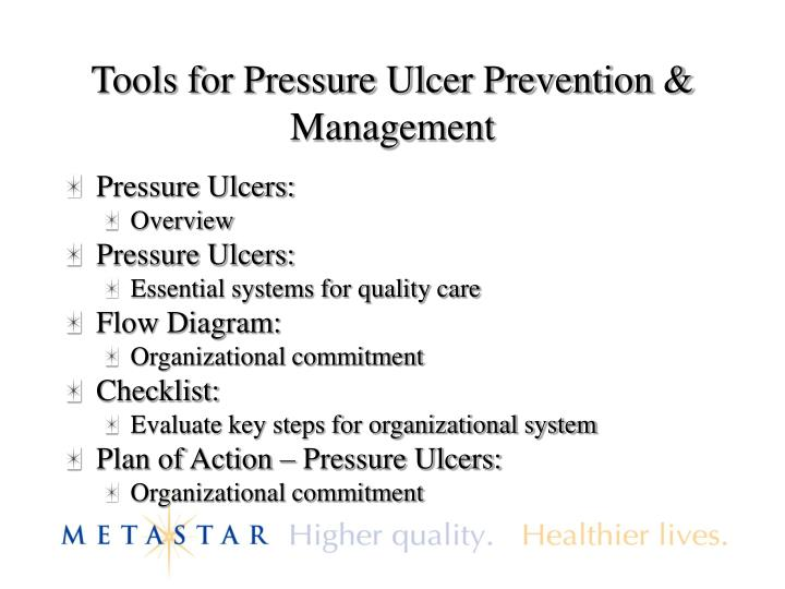 Tools for Pressure Ulcer Prevention & Management