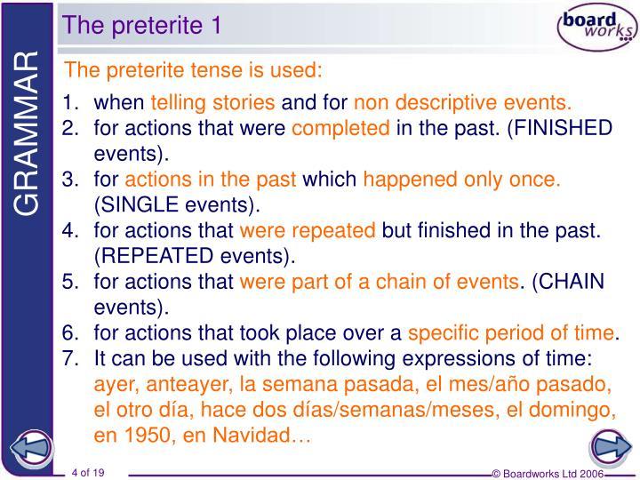 The preterite 1