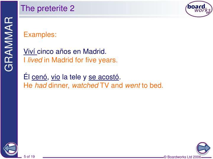 The preterite 2