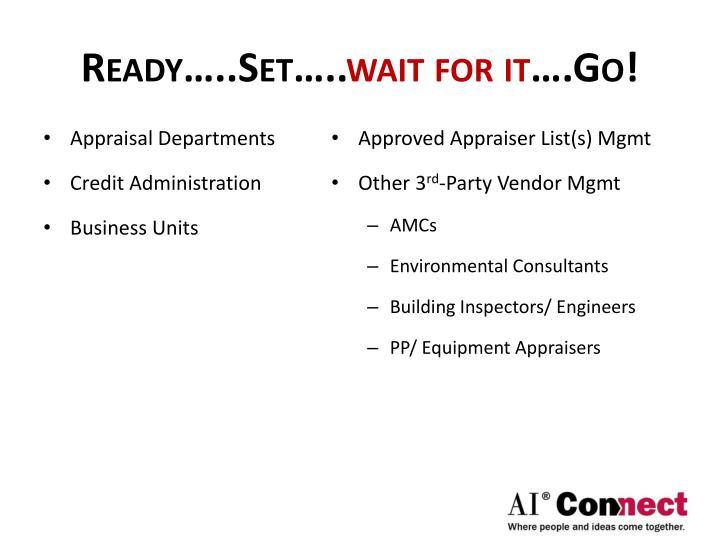 Ready…..Set…..