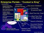 enterprise portals context is king