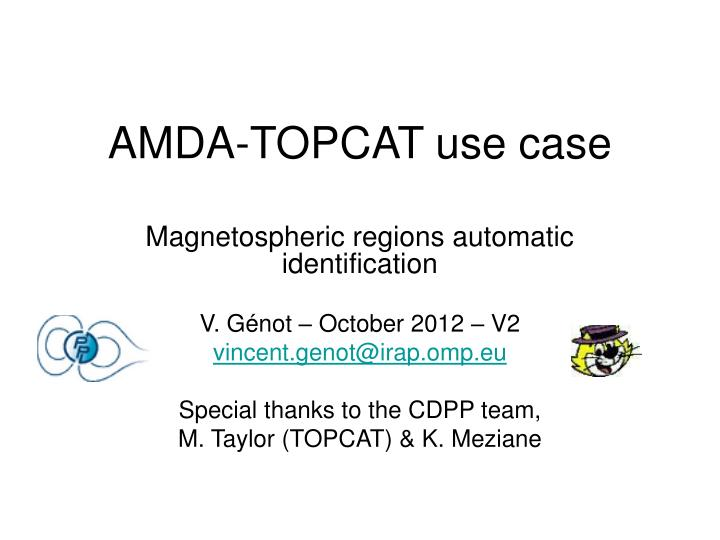Amda topcat use case