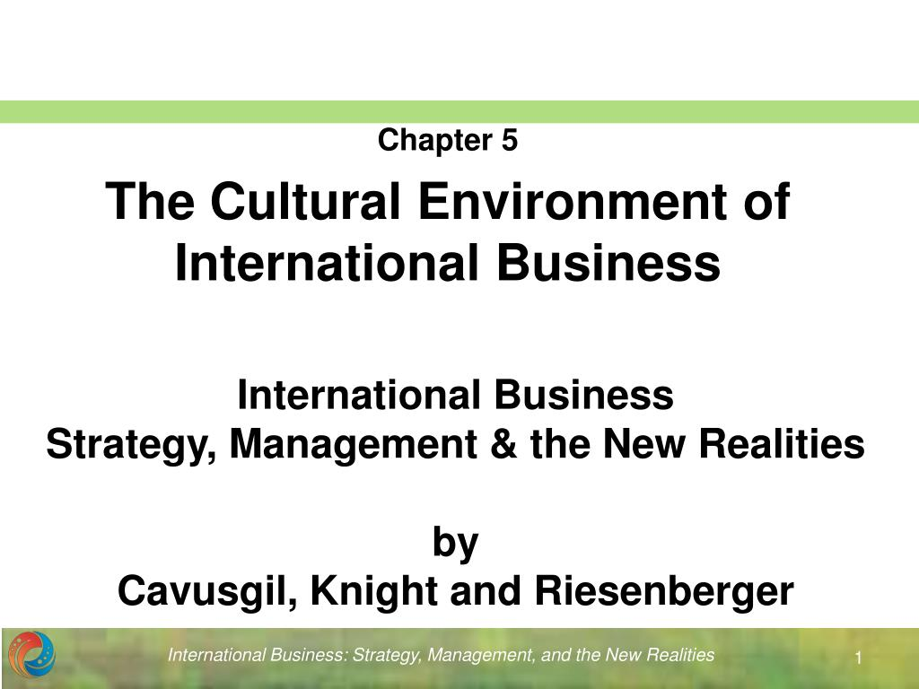 cultural environment in business
