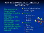 why is information literacy important