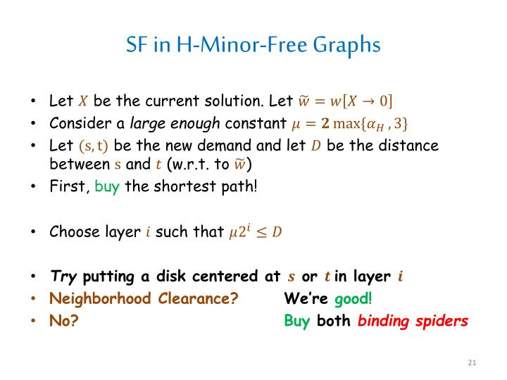 SF in H-Minor-Free