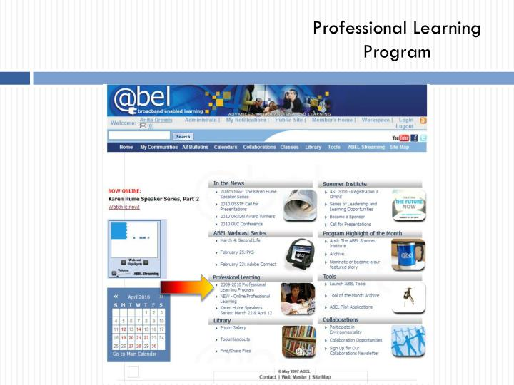 Professional Learning Program