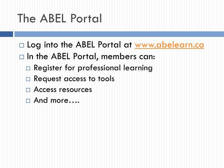 The ABEL Portal