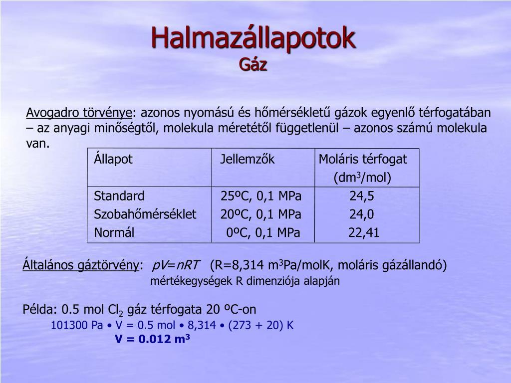 Térfogat számítás kémia