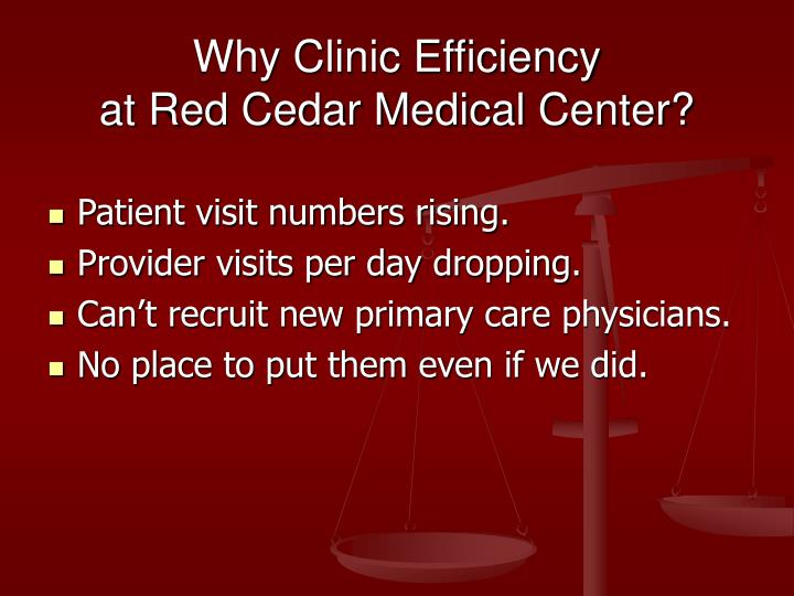 Why Clinic Efficiency