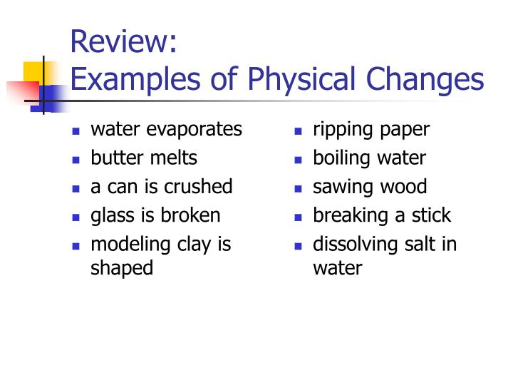 Ppt Types Of Changes Powerpoint Presentation Id3842209