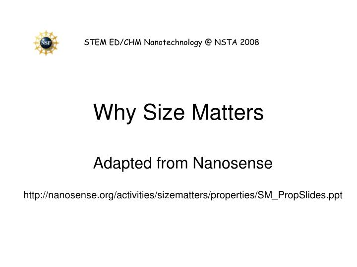 why size matters n.