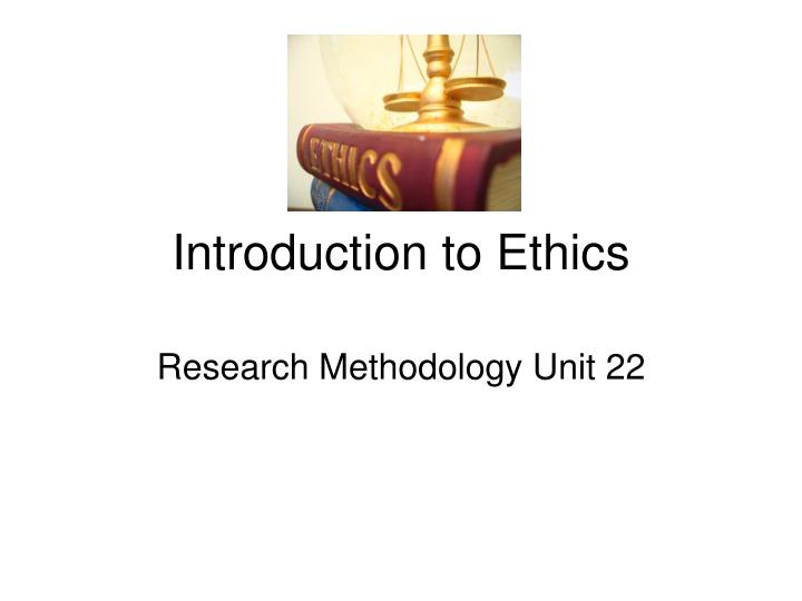 introduction to ethics n.