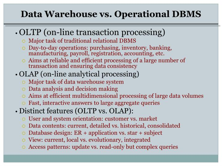 the data warehouse market An enterprise data warehouse is a unified database that holds all the business information an organization and makes it accessible all across the company although there are many interpretations of what makes an enterprise-class data warehouse.