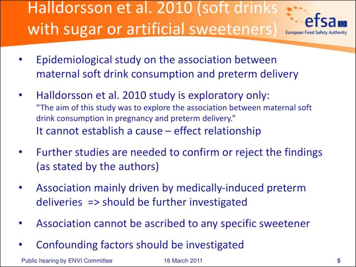 Halldorsson et al. 2010 (soft drinks with sugar or artificial sweeteners)