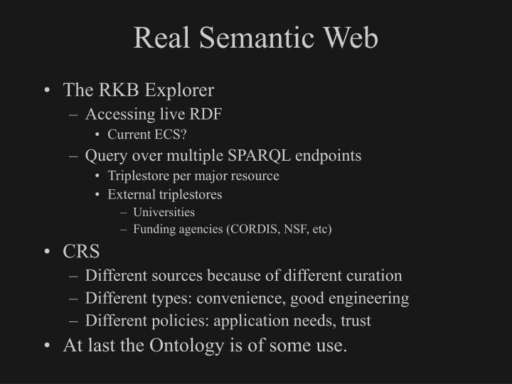Real Semantic Web