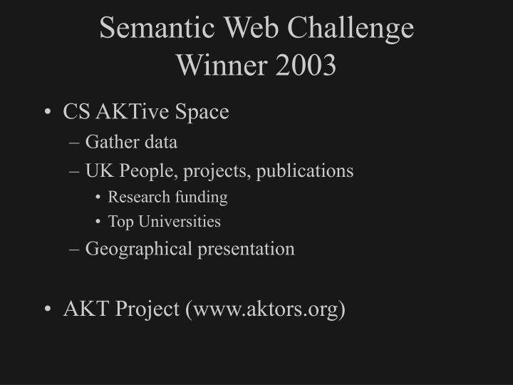 Semantic Web Challenge