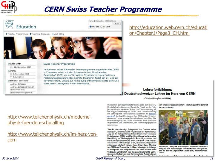 CERN Swiss Teacher Programme