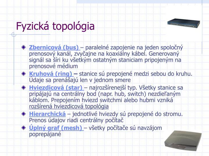 Fyzická topológia