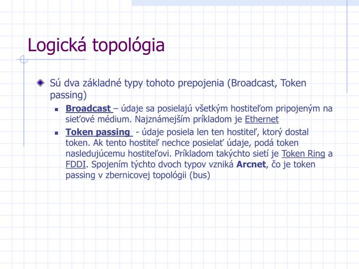 Logická topológia