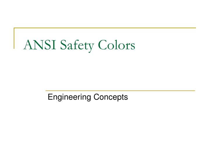ansi safety colors n.