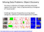 missing data problems object discovery