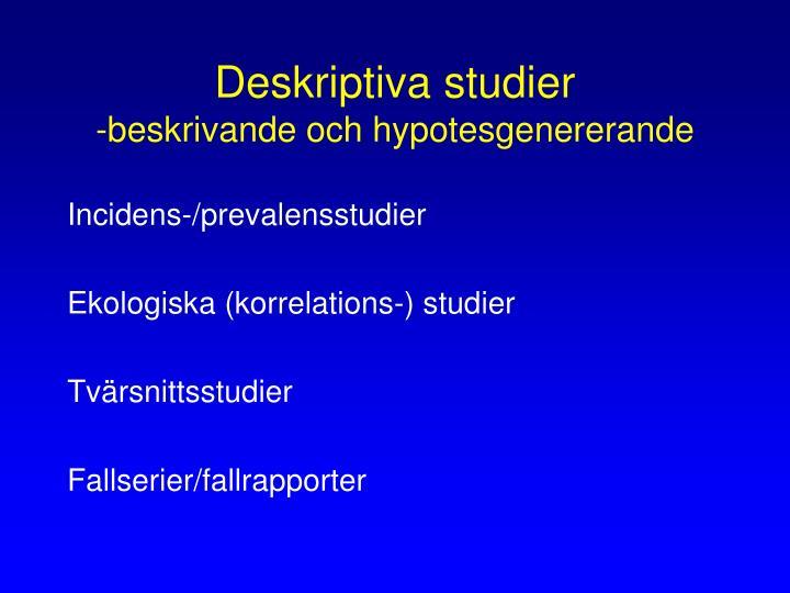 Deskriptiva studier