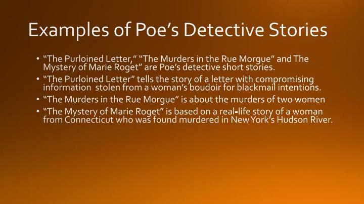 Examples of Poe's Detective Stories