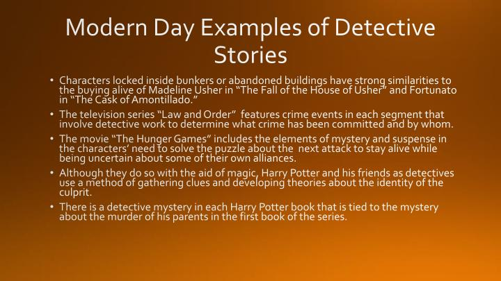Modern Day Examples of Detective Stories
