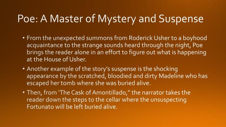 Poe: A Master of Mystery and Suspense