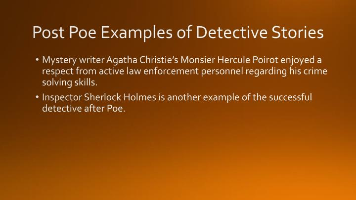 Post Poe Examples of Detective Stories