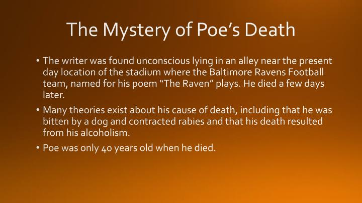 The Mystery of Poe's Death