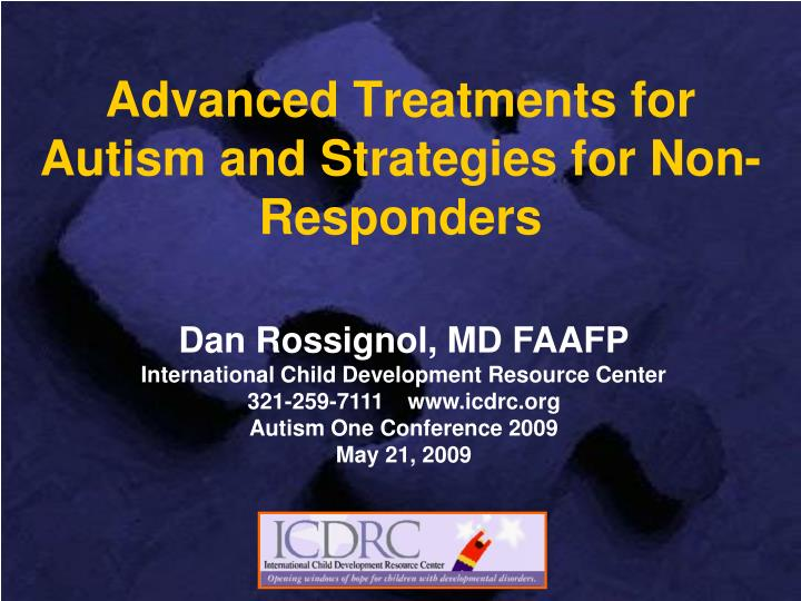 advanced treatments for autism and strategies for non responders n.