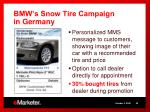bmw s snow tire campaign in germany