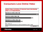 consumers love online video