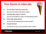 four flavors of video ads