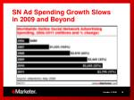 sn ad spending growth slows in 2009 and beyond