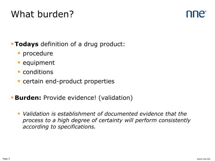 What burden?