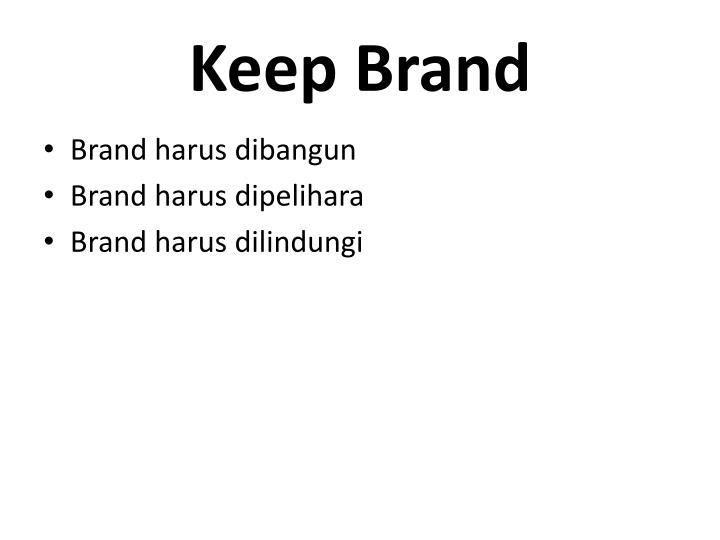 Keep Brand