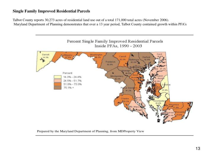 Single Family Improved Residential Parcels
