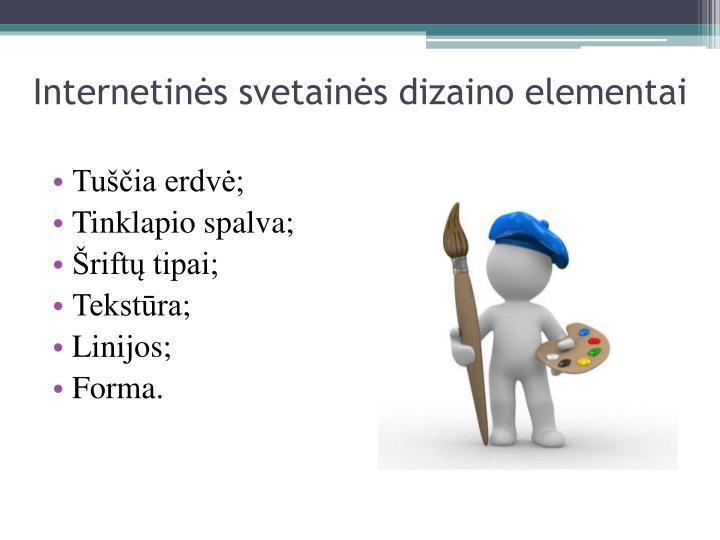 Internetinės svetainės dizaino elementai