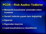 pcos risk azalt c tedbirler