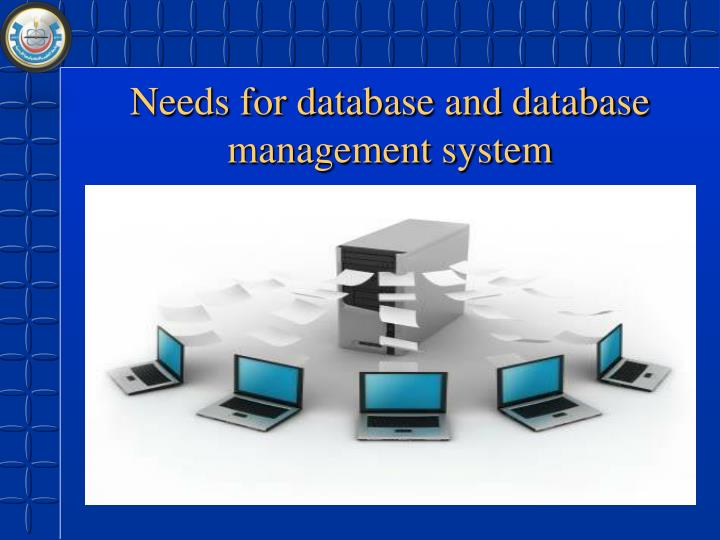 Needs for database and database management system