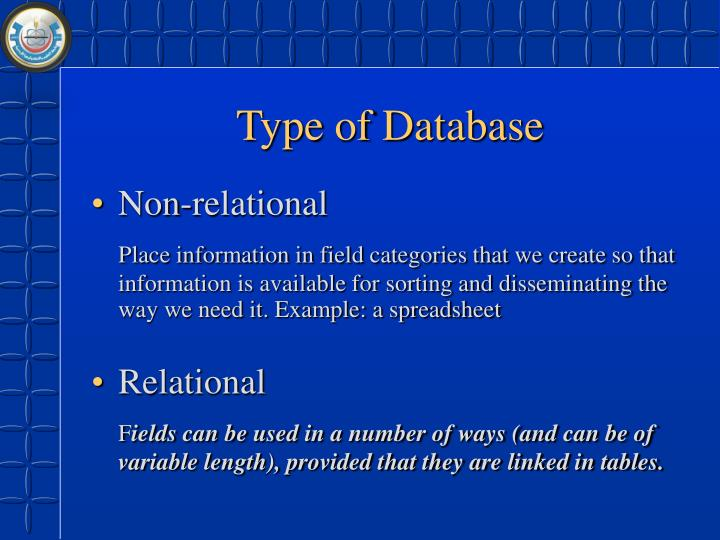 Type of Database