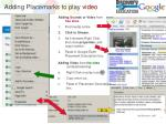 adding placemarks to play video
