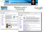 websites used in presentation1