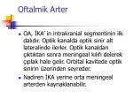 oftalmik arter